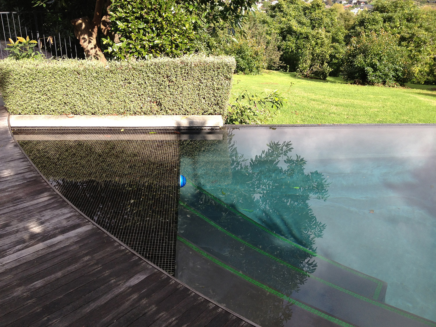 Infinity edge swimming pool design for Pool design nz